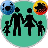 Löwe-Kind und Krebs-Elternteil