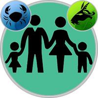 Steinbock-Kind und Krebs-Elternteil