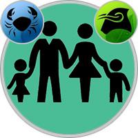 Stier-Kind und Krebs-Elternteil