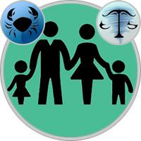 Waage-Kind und Krebs-Elternteil