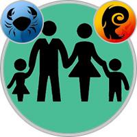 Widder-Kind und Krebs-Elternteil