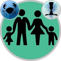 Zwillinge-Kind und Krebs-Elternteil
