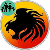 Löwe Eltern