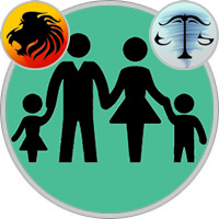 Waage-Kind und Löwe-Elternteil