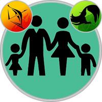 Jungfrau-Kind und Schütze-Elternteil