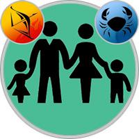 Krebs-Kind und Schütze-Elternteil
