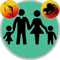 Löwe-Kind und Schütze-Elternteil