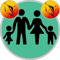 Schütze-Kind und Schütze-Elternteil