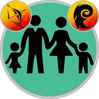Widder-Kind und Schütze-Elternteil