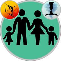 Zwillinge-Kind und Schütze-Elternteil