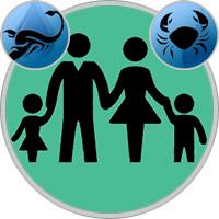 Krebs-Kind und Skorpion-Elternteil