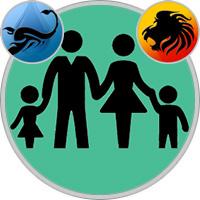 Löwe-Kind und Skorpion-Elternteil