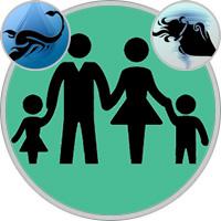 Wassermann-Kind und Skorpion-Elternteil