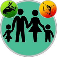 Schütze-Kind und Steinbock-Elternteil