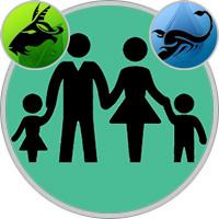 Skorpion-Kind und Steinbock-Elternteil