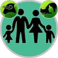 Jungfrau-Kind und Stier-Elternteil
