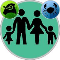 Krebs-Kind und Stier-Elternteil