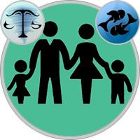Fische-Kind und Waage-Elternteil