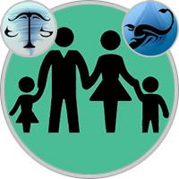 Skorpion-Kind und Waage-Elternteil