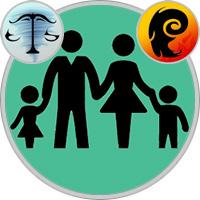 Widder-Kind und Waage-Elternteil