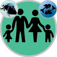 Fische-Kind und Wassermann-Elternteil