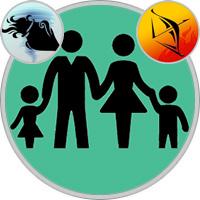 Schütze-Kind und Wassermann-Elternteil