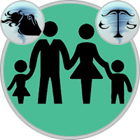 Waage-Kind und Wassermann-Elternteil
