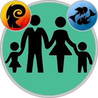 Fische-Kind und Widder-Elternteil
