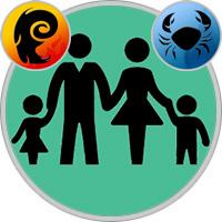 Krebs-Kind und Widder-Elternteil