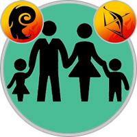 Schütze-Kind und Widder-Elternteil