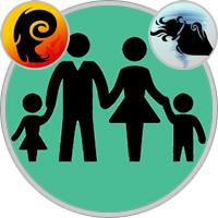 Wassermann-Kind und Widder-Elternteil