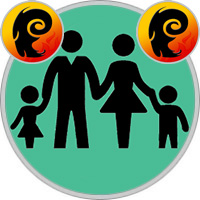 Widder-Kind und Widder-Elternteil