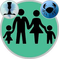 Krebs-Kind und Zwillinge-Elternteil