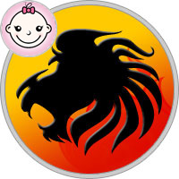 Löwe Mädchen