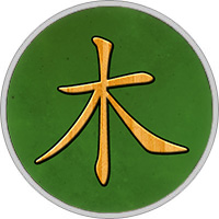 Chinesisches Element Holz