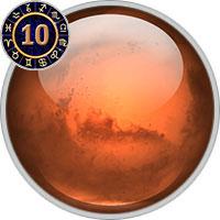 Mars im 10. Haus