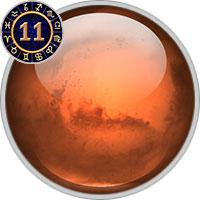 Mars im 11. Haus