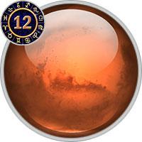 Mars im 12. Haus