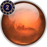 Mars im 2. Haus