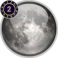 Mond im 2. Haus