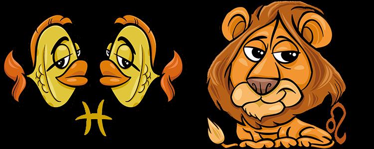 Sternzeichen löwe und fisch