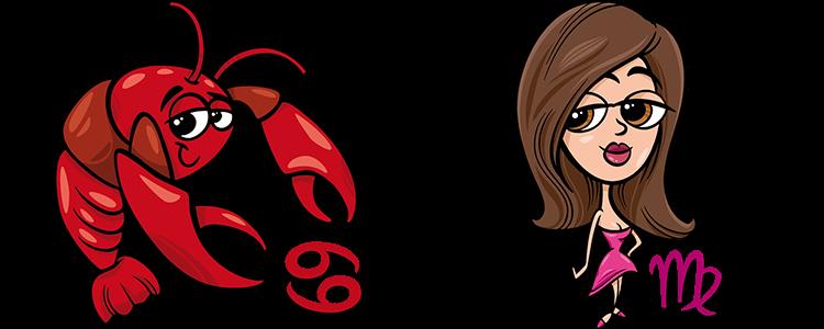 Krebs und Jungfrau Partner Horoskop