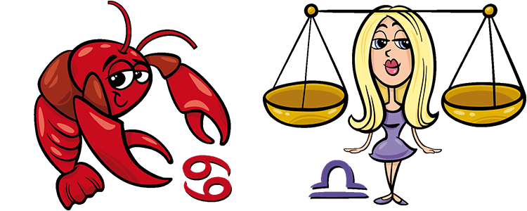 Krebs und Waage Partner Horoskop