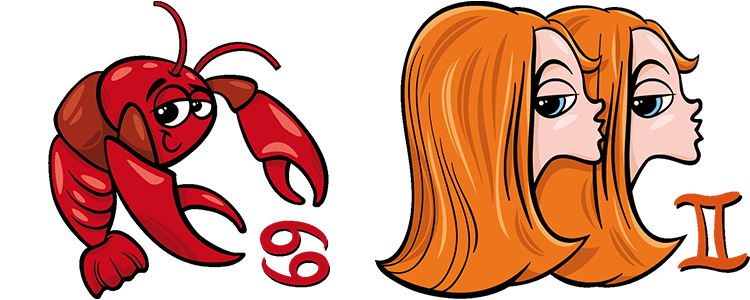 Krebs und Zwillinge Partner Horoskop