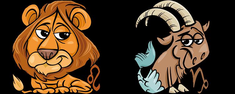 Löwe und steinbock passt das
