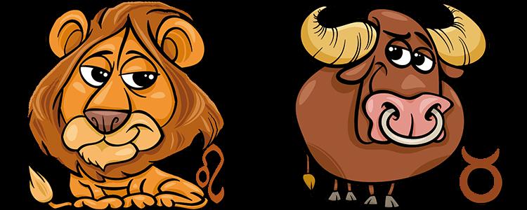 Sternzeichen Löwe und Stier Partner