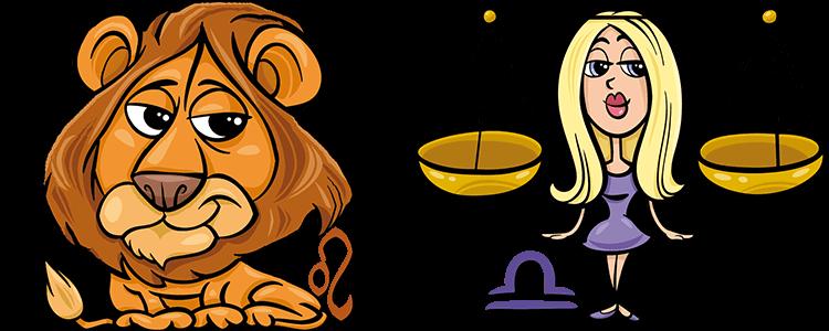 Sternzeichen Löwe und Waage Partner