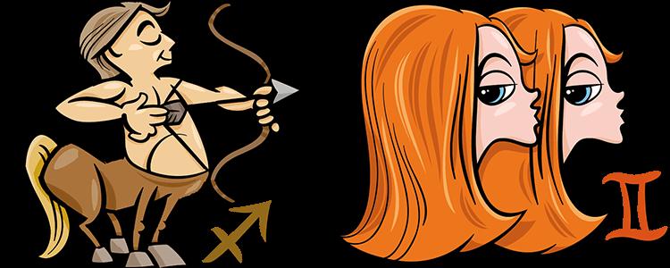 Schütze und Zwillinge Partner Horoskop