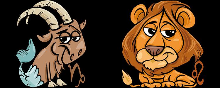 sternzeichen löwe und steinbock