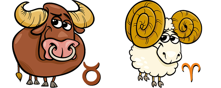 Stier und Widder Partner Horoskop